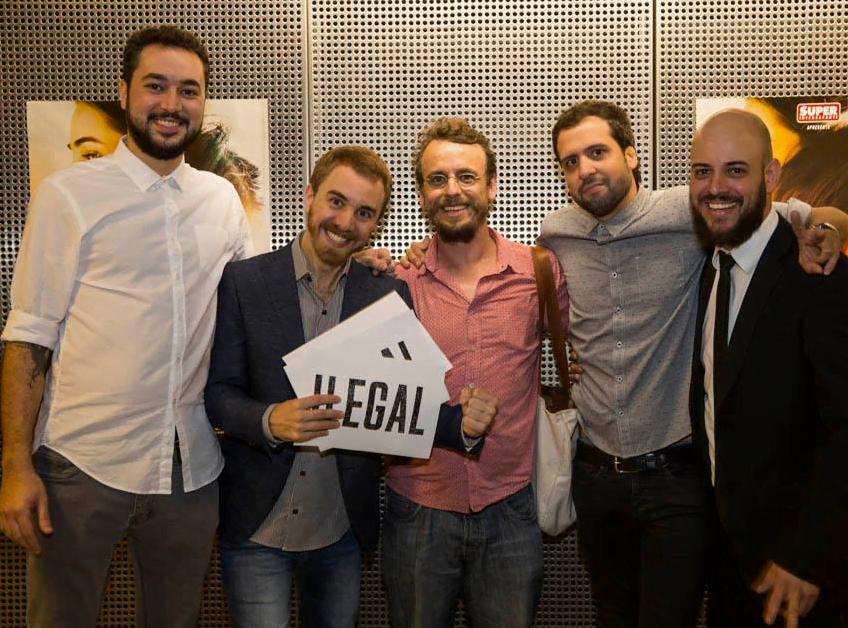 Tiago Berbare,Tarso Araujo, Denis Russo Burgierman, Raphael Erichsen e Rodrigo Braga, na pré-estreia do filme, no Rio de Janeiro