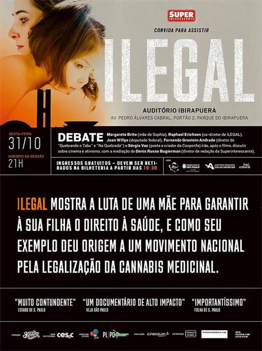 Cartaz da sessão especial, gratuita, que acontece esta noite em São Paulo