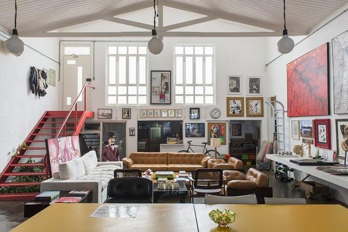 A casa do artista: é neste refúgio que ele concebe as ideias de seu projetos e empreendimentos criativos.