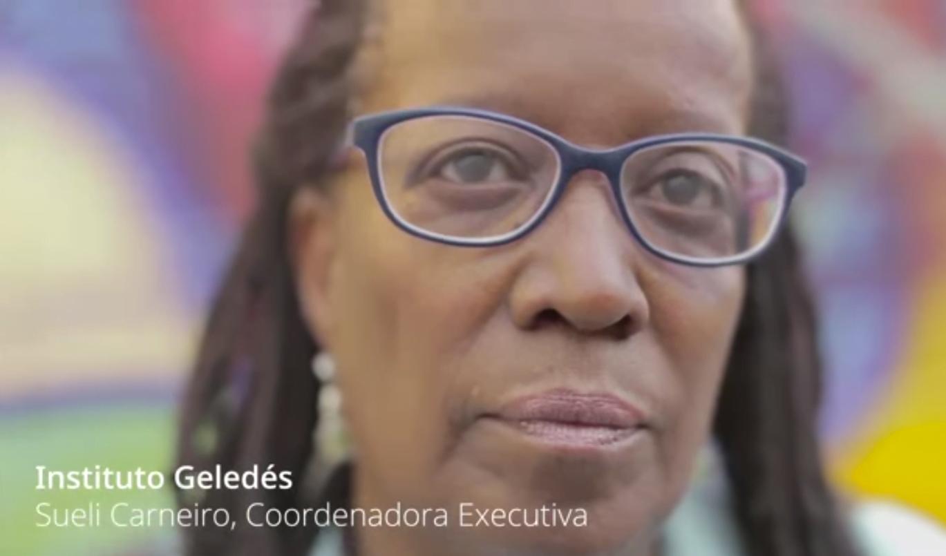 Sueli Carneiro, coordenadora do Geledés, uma das ONGs premiadas pelo Google, em projeto com parceria da Cria
