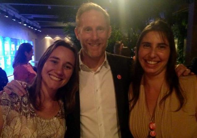 Paula, Jay e Greta, no evento que laureou a Natura como Empresa B.