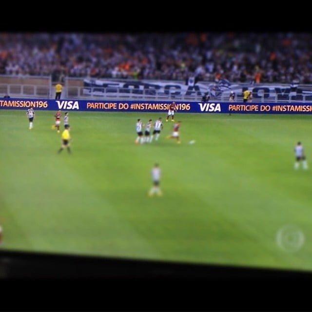"""Uma """"missão"""" patrocinada pela Visa fez a empresa aparecer na TV durante a final da Copa do Brasil."""