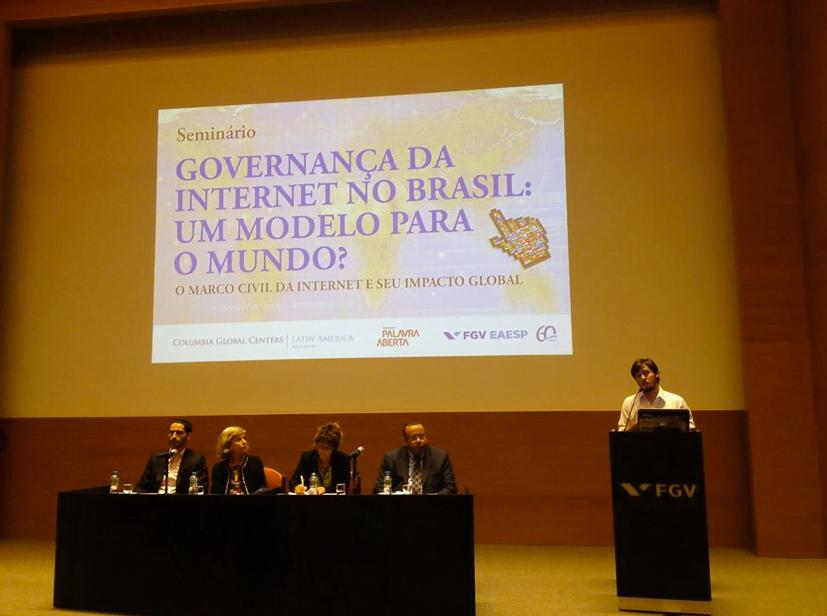 Francisco participa de um evento sobre o Marco Civil da Internet, em setembro do ano passado, quando o InternetLab foi lançado.