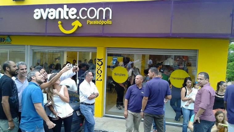 A inauguração da primeira loja Avante, em Paraisópolis, aconteceu no úlitmo dia 15, com festa.