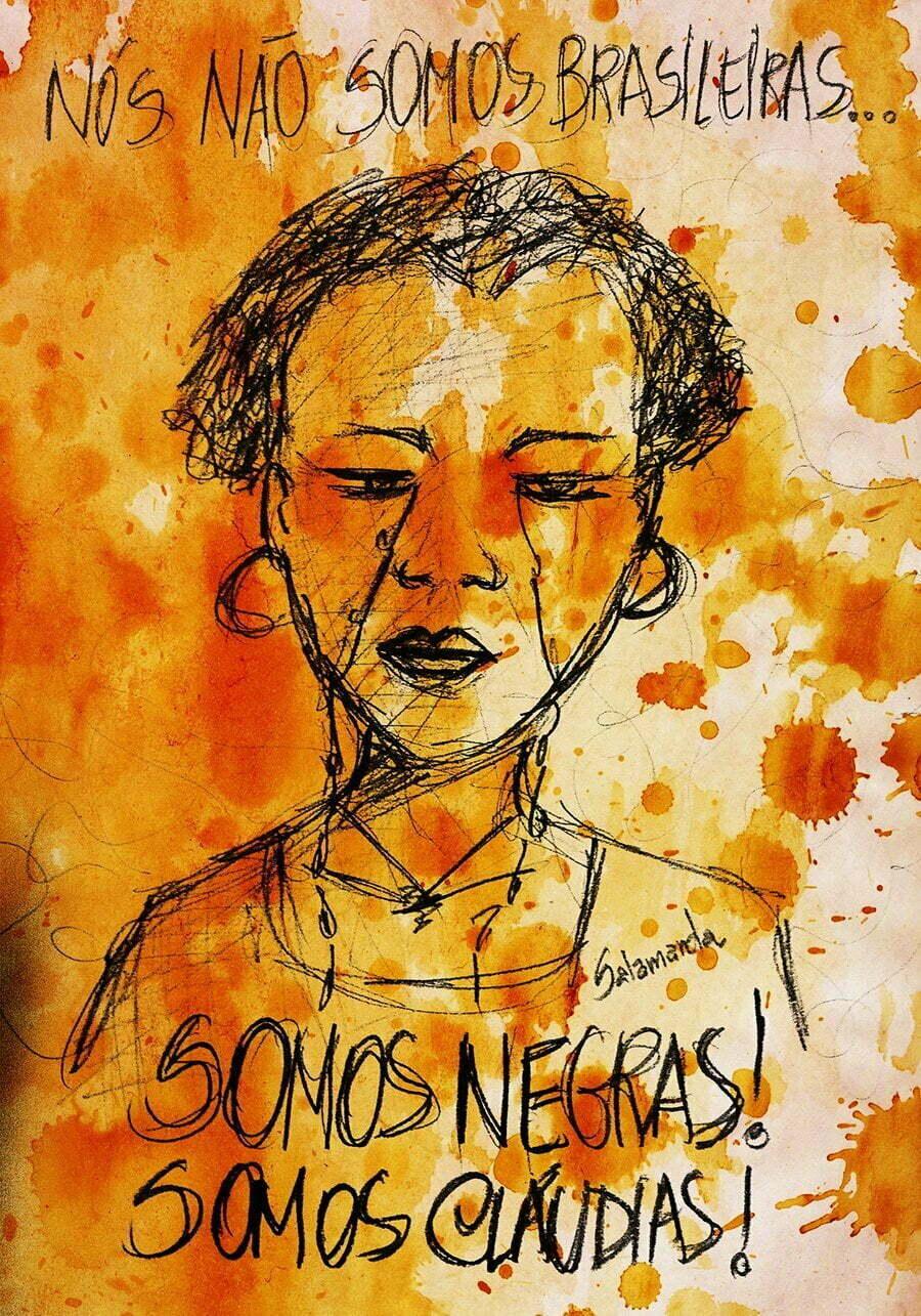Ilustração da artista Amanda Salamanda para o projeto 100 Vezes Cláudia