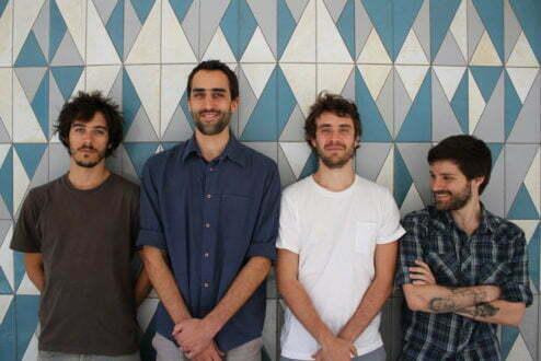 Fabio Riff, Rodrigo Oliveira, Thomas Frenk e Fabrizio Lenci, arquitetos, sócio-fundadores e faz-tudo da Vapor 324.