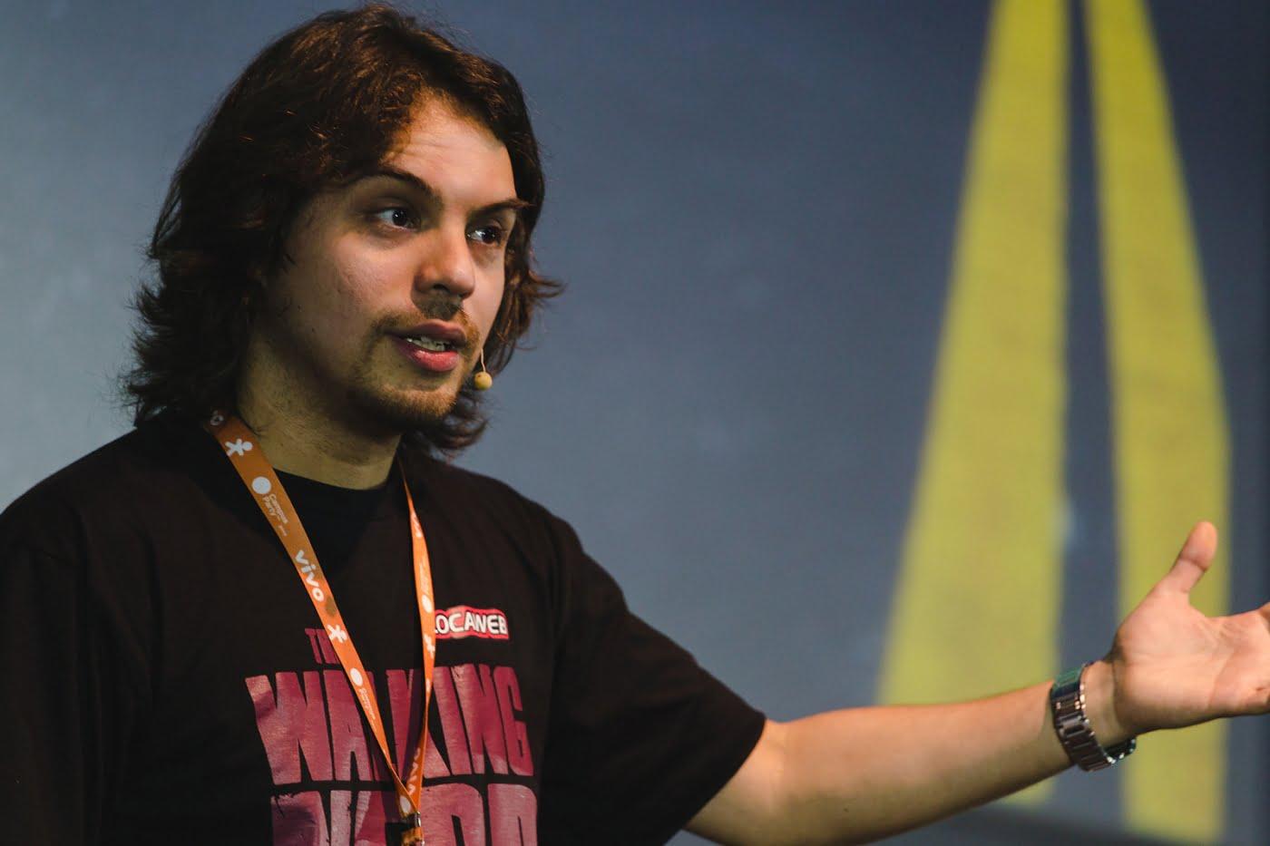 Murilo Gun, empreendedor e comediante, ficou 10 semanas na Singularity University.