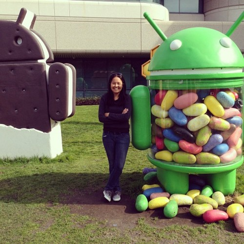 Visita ao Google, no Vale do Silicio, no ano passado.