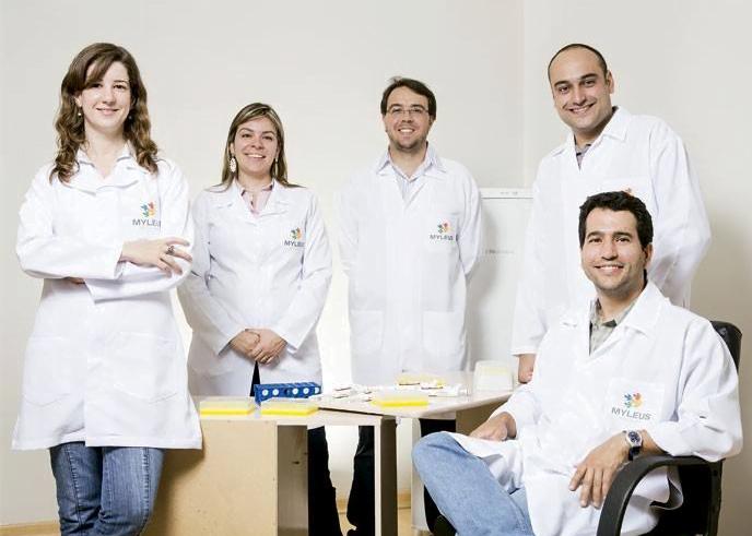 Equipe de pesquisadores da Myleus (foto: reprodução do site Galileu).