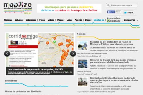 Mobilize Brasil: um portal com estudos, notícias e campanhas sobre mobilidade, que atrai 3 milhões de leitores por ano.