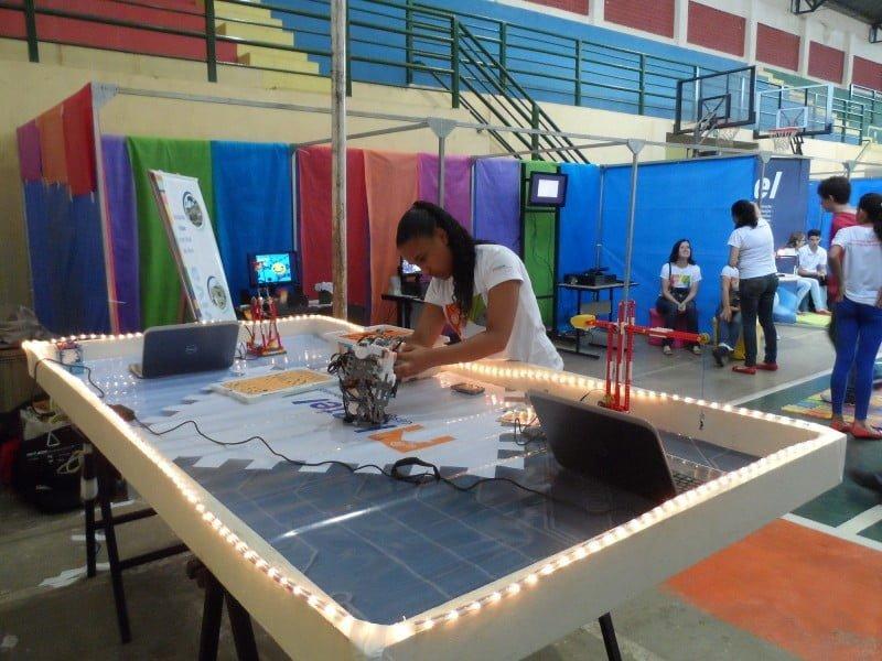 Atividade de robótica em Santa Rita do Sapucaí