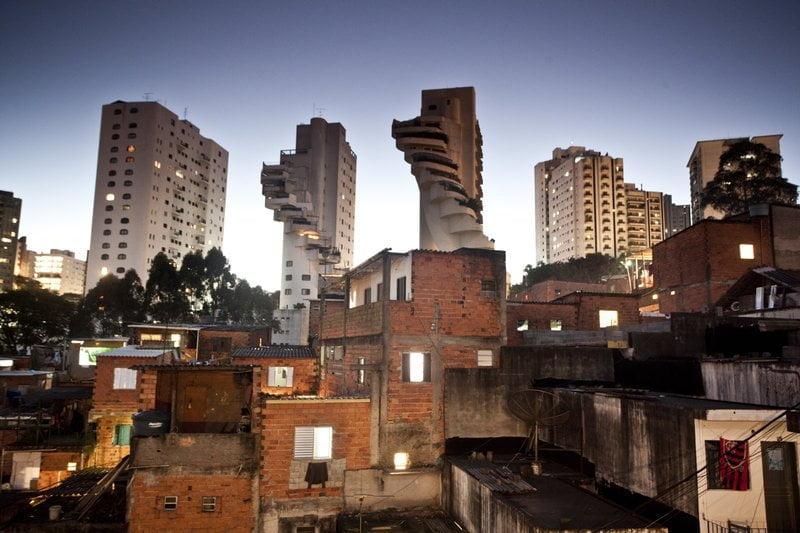 Favela de Paraisópolis, em São Paulo.