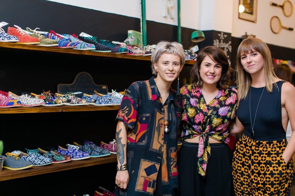 Pamella, Bárbara e Laura, da Insecta Shoes