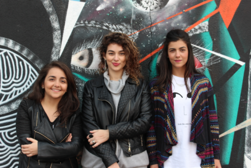 As sócias do Cinese: Camila, Giovana e Anna.