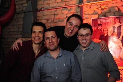 Os quatro sócios da Stayfilm: Douglas Almeida, Daniel Almeida, Leandro Ferreira de Souza e Fabiano Simões.