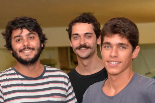 Os sócios da Zerezes (da esq. para a direita): Luiz Eduardo Rocha, Henrique Meyrelles e Hugo Galindo