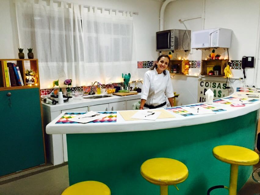 Paula Belleza, chef de cozinha que usava a casa como Q.G. de suas gravações e aulas.