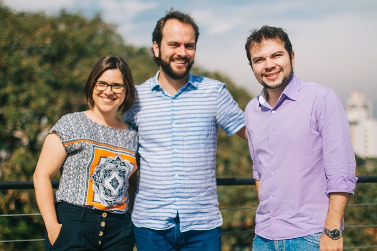 Luciana, Mateus e André, sócios da New Hope Ecotech (foto: Kalinca Maki).