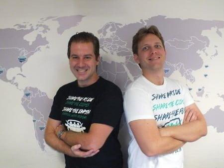 Os sócios fundadores da Tripda, Pedro Meduna e Eduardo Prota.