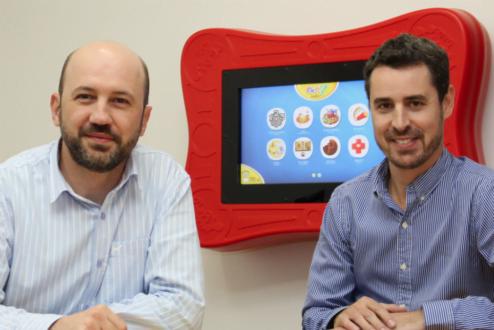 Marlon e Jean, sócios da PlayMove, startup que investe em brinquedos tecnológicos e games para crianças.