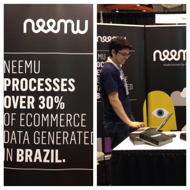 Estande da Neemu numa feira nos EUA: é hora de buscar clientes fora do Brasil.