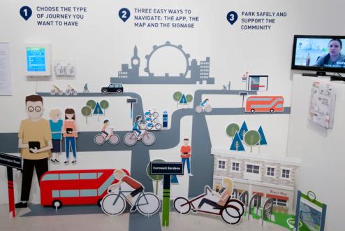 A imagem abaixo é de um projeto de Service Design da prefeitura de Londres pra transformar a cidade, até 2026, em líder na cultura do ciclismo.