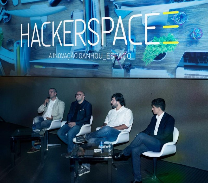 Paulo Castro, Eduardo Barbato, Roni Cunha e Diego Callegario falam sobre os objetivos do Hackerspace3.