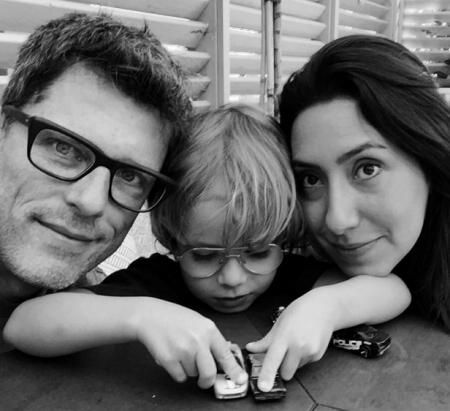 Em família: Laura com Fabio Müller e o filho, Benjamim.