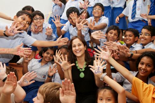 Educadora e empreendedora, Kiran propõe que toda criança se contagie pelo vírus do I can (eu posso).