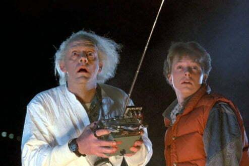 Marty e Dr Brown no lendário De Volta para o Futuro. Hoje, o futuro é feito de conceitos como inovação aberta e design focado no usuário: é disso que tratam os Living Labs.