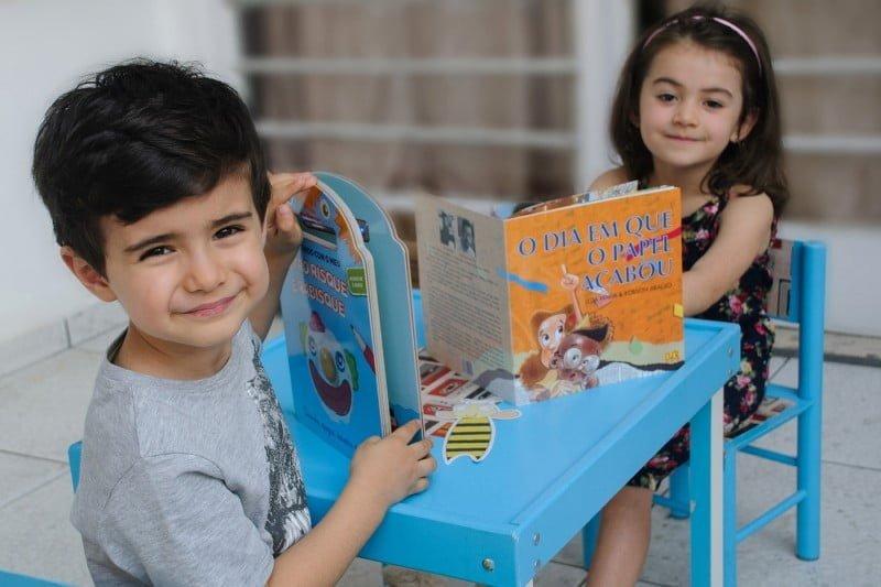 Os livros da Leiturinha são recomendados para crianças de até 10 anos.