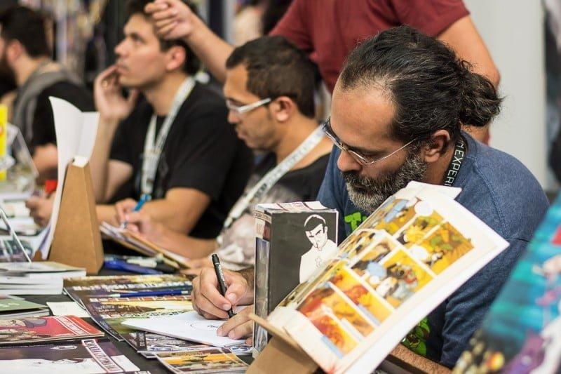 A CCXP, que começou com mais quadrinistas do que a ComicCon San Diego, deve alcançar 300 autores este ano.