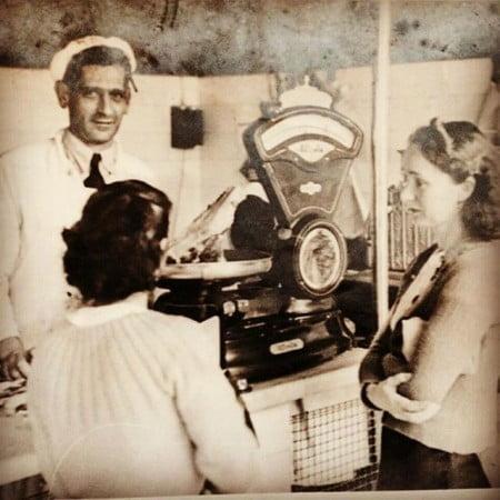 Registro familiar: o avô de Rogério montou uma rede de açougues na zona leste paulistana.