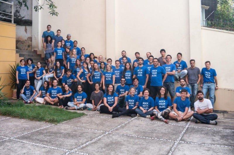 Parte dos funcionários da Rock Content. Além do time em BH, a startup tem mais de 2 mil freelancers pelo país.