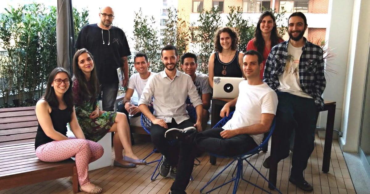 Equipe da Vérios, uma das startups que oferece serviços financeiros. Neste caso, distribui o investimento do cliente entre renda fixa e variável cobrando menos por isso do que bancos tradicionais.