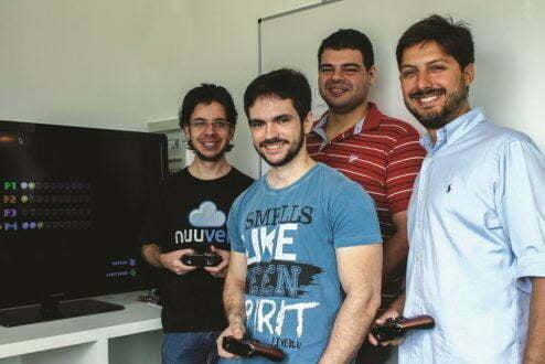 Paulo Schilling, Andrey Beserra, Thiago Diniz e Fernando Campos: os sócios da Nuuvem.