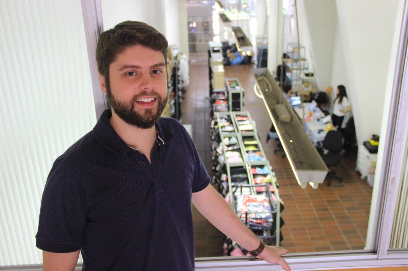 Pedro Romi, CEO do Retroca, na nova sede da empresa em São Paulo.
