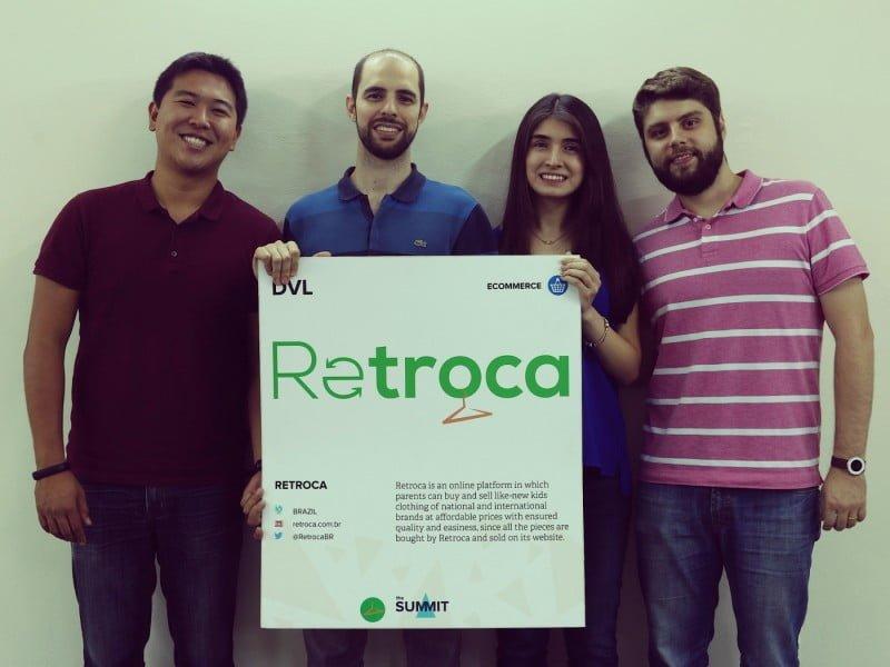 Os sócios do Retroca: Caio Sagae, Andre Teves, Andréia Cha e Pedro Romi.