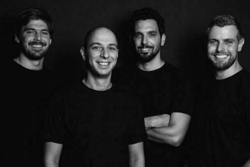 Os fundadores da Broou: Adriano Wiermann, Adriano Vasconcellos, Felipe Baracchini e FelipeBarros (foto: Caio Palazzo).