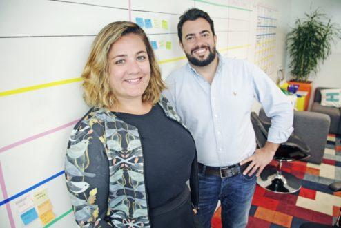 Bell Gama e Dudu Ribeiro, fundadores da Air Branding (foto: Pablo Vallejos).