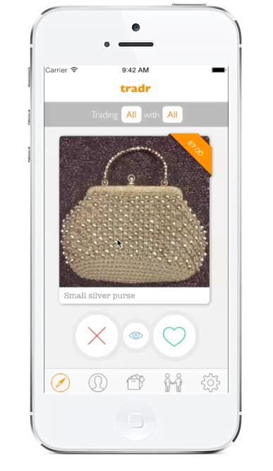 O Tradr serve para as pessoas trocaram objetos e tem uma usabilidade bem parecida com a do Tinder, que o inspirou.