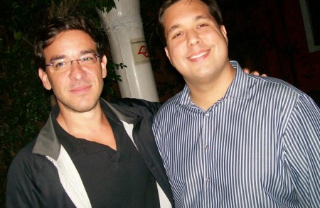 Ricardo Cesar e o sócio, melhor amigo e padrinho de seu filho, Eduardo Vieira.