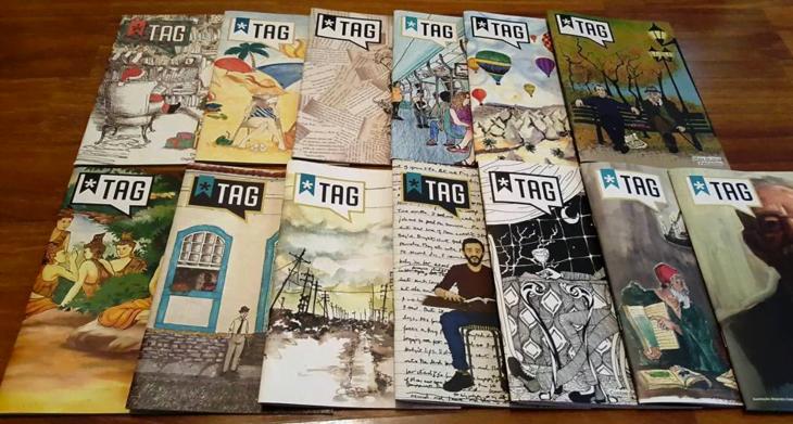 """Para criar a """"experiência literária"""", a Tag envia aos seus assinantes uma revista, que deve ser lida antes do livro do mês."""