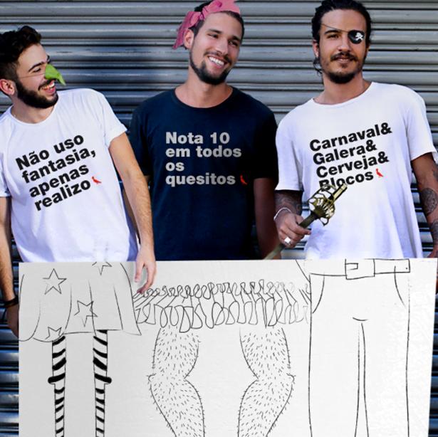 A agilidade para produzir camisetas, como essas do Carnaval, é um dos traços da marca.