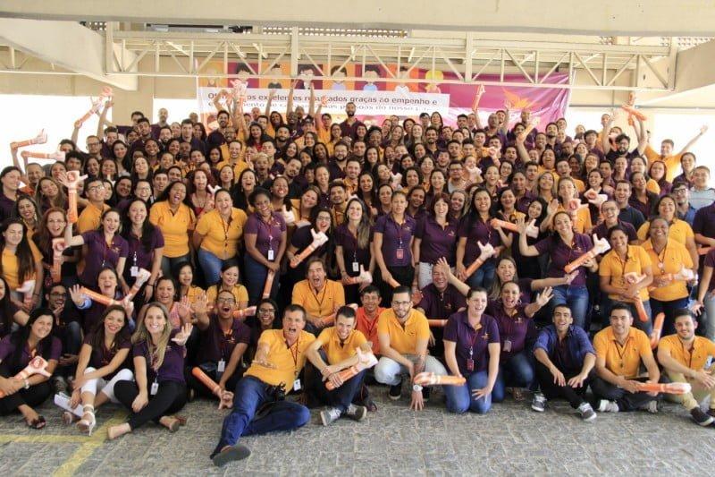 Evento com parte dos 700 funcionários da ClearSale.