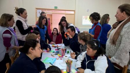 O Diversidade na Rua esteve na APAE de Flores da Cunha, realizando uma Oficina de Experimentação e Legitimação dos facilitadores, junto com os profissionais, alunos e famílias