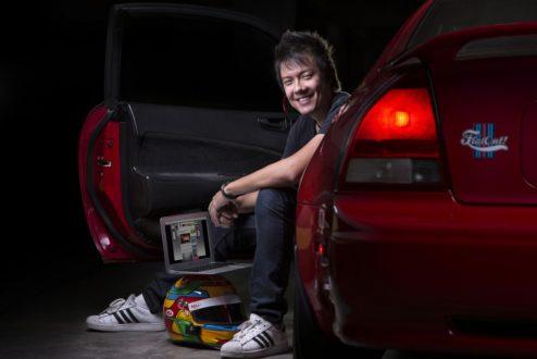 Juliano Barata, do site FlatOut, tornou-se empreendedor não porque quisesse, mas porque não havia outra alternativa (foto: Fábio Aro).