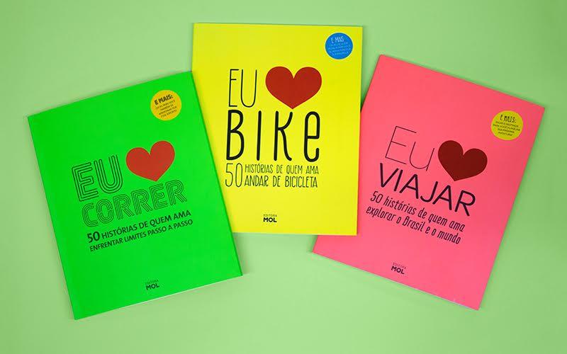 A coleção Eu Amo tem edições temáticas, com patrocinadores diferentes, e é a forma da MOL publicar seus livros: eles são brindes premium.