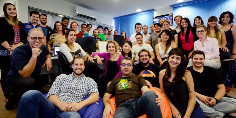 A equipe de São Paulo do QuintoAndar tem 70 funcionários, e está expandindo (foto: Juliana Romano Gomes).