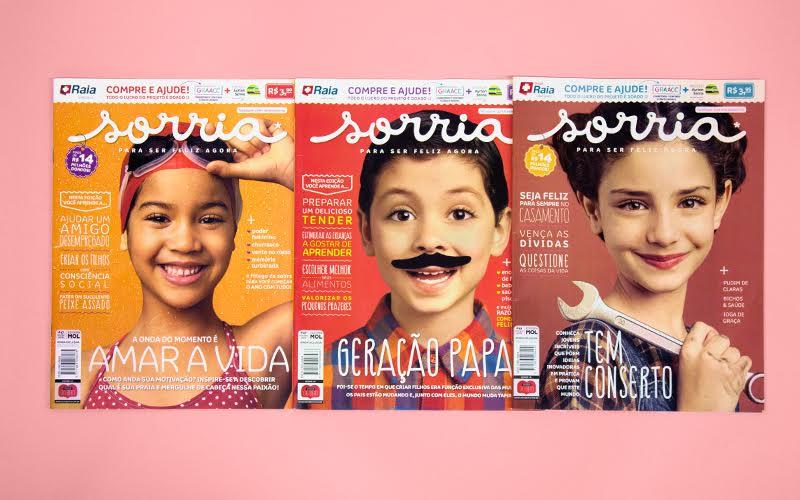 A revista Sorria é hoje uma das mais vendidas do Brasil: está sempre nos caixas da rede de farmácias Droga Raia e a venda ajuda o GRAACC.